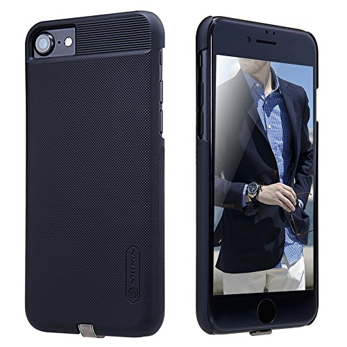 iPhone 7 Case, iPhone 8 Case, TJS [Magic]-Charging Receiver Case [QI Wireless Charging Receiver][Anti-Scratch][Anti-Slip] Maximum Output 1A/Anti-Skid for Apple iPhone 7/iPhone 8 - Black