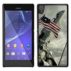 All Phone Most Case / Oferta Especial Duro Teléfono Inteligente PC Cáscara Funda Cubierta de proteccion Caso / Hard Case Sony Xperia T3 // Usa Flag