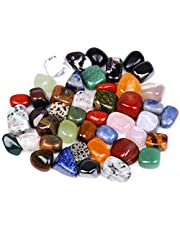 Jannyshop Mineral Rock Variety gepolijste edelsteenchips Artware onregelmatige vorm gemengde kleurrijke mineralen bergkristal steen 100 g