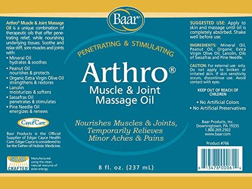 Arthro - Muscle & Joint Massage Oil, 8 oz. by Baar (Image #1)