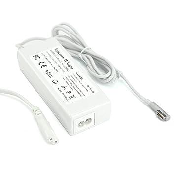 Sunydeal Cargador Adaptador para Ordenador Portátil MacBook Pro, 16.5V 3.65 A, 60W, Cable de Alimentación , Compatible con Netbook MacBook Pro A1184 / ...