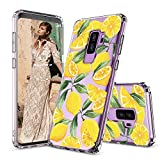 MOSNOVO Galaxy S9 Plus Case, Lemon Fruit Pattern Clear Design Printed Transparent Plastic Back Hard Case with TPU Bumper Protective Case Cover for Samsung Galaxy S9 Plus