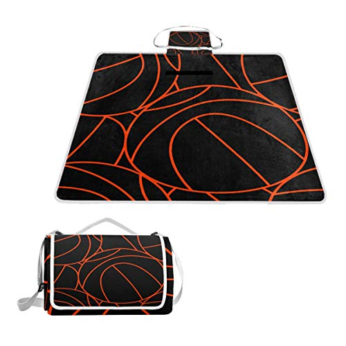 Lucasse Philippd Kid Basketball Hoop Outdoor Waterproof Portable Tote Bag Picnic Blanket Double Spring and Summer Suitable for Beach Lawn Camping Waterproof Sand