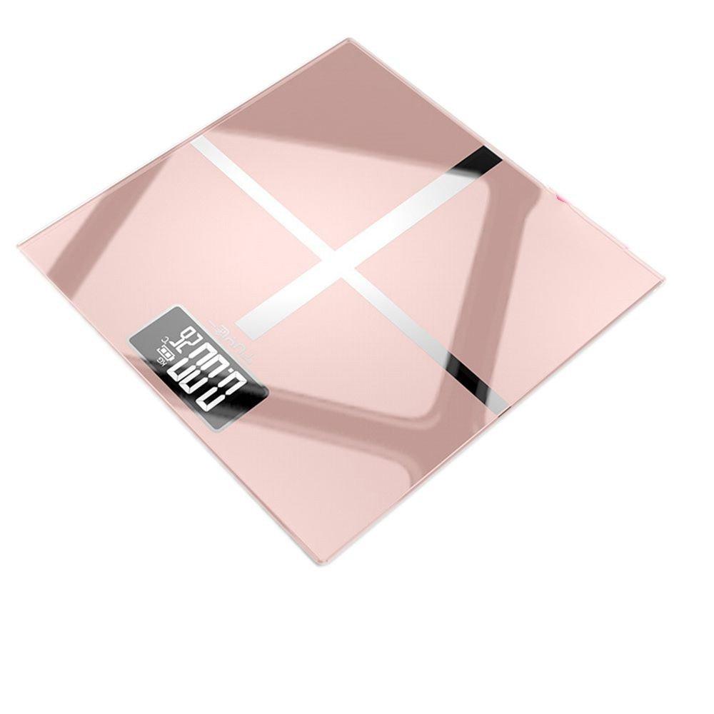 JTHKX Home Balanza electrónica Pantalla Grande Báscula de baño Peso Escala de Salud Báscula Corporal, Batería de Oro Rosa: Amazon.es: Hogar