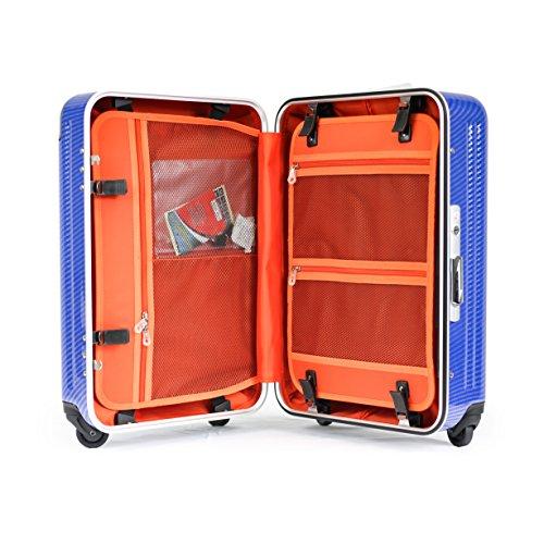 Enkloze X1 Carbon Blue Carry-On 21' Spinner 100% PC TSA Approved Front Loading Zipperless