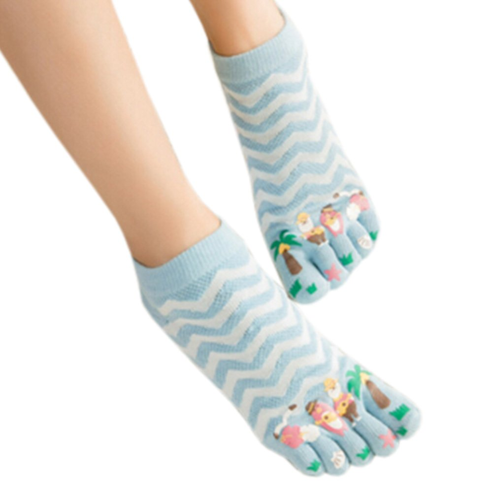Womens Cotton Toe Socks Barefoot Ventilate Sports Socks, 1 Pair NO.21