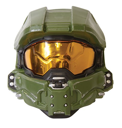 Disguise Men's Master Chief Adult 1/2 Mask, Green, One Size -