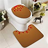 VROSELV 2 Piece Toilet mat set Computer Motherboard Electronic Hardware Technical Display Absorbent Cover