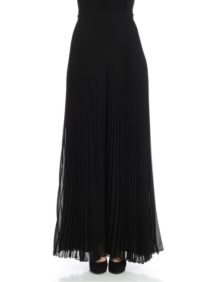 MaxMara Women's 81310281000Liegi004045 Black Cotton Skirt