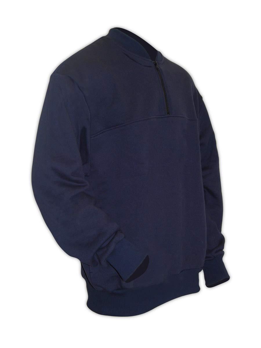 Image of Active Sweatshirts Magid CC12DHN Dual-Hazard 12.0 oz. FR Quarter Zip Crew Neck Sweatshirt (1 Sweatshirt)