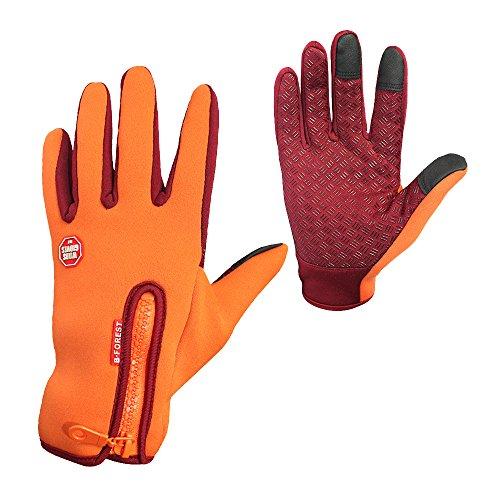 Women/Men Touch Screen Full Finger Gloves for Smartphone Yellow - 3