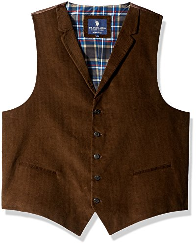U.S. Polo Assn. Men's Vest, Corduroy Taupe, XX-Large