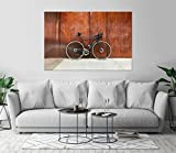 Modern Road Bike Bicycle Wall Art Print Decor Image Self-Adhesive - Wallpaper Sticker 36 x 54 - XL