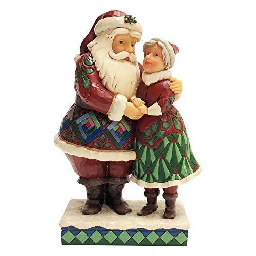 Enesco Jim Shore Heartwood Creek Santa & Mrs. Claus Figurine (Claus Shore Santa Jim)