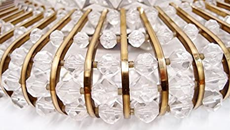 Plafonniere Messing Glas : Deckenlampe plafoniere cm messing acryl perlen wandleuchte