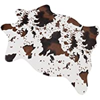 MustHome Cute Cow Print Rug 29.5Wx43.3L Fun Rug Nice for Decorating Kids Room/Under Coffee Table/Cowboy-themed Nursery/Jungle Themed Room/Playroom