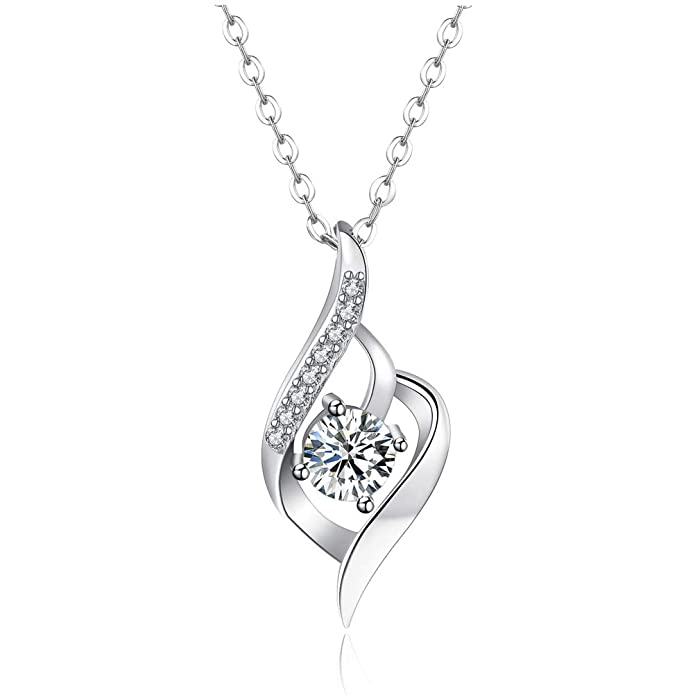Eternal Love Platinum Plated Necklace With Strong Gloss Aaa Zirconia