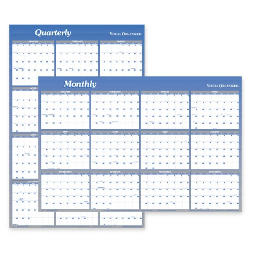 AT-A-GLANCE Visual Organizer Vertical/Horizontal Erasable Wall Planner, Large Wall, Blue, 2012 (A1152)