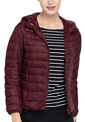 Femmes Bodeaux À Filles Manteau Down Zhuikun Longues Jacket Avec Capuche Winter Manches xYtqPw
