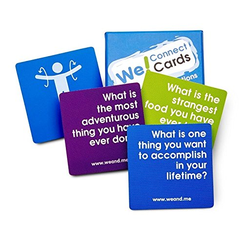 (We! Connect Cards Icebreaker Questions Trust Building Games Teambuilding Activities Conversation Starters for Meetings and Workplace As Seen on TEDx (60)