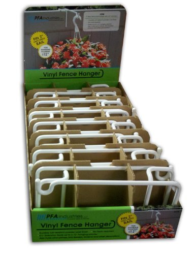 [FULL CASE] Vinyl Fence Plant U0026 Accessory Rail Hangers   White   8.5 Inch