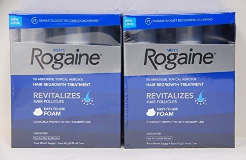 8 Months - Rogaine Foam Mens 8 Month Supply Hair Loss Minoxidil - Total 16.88 Oz (Packaging may vary) by Rogaine