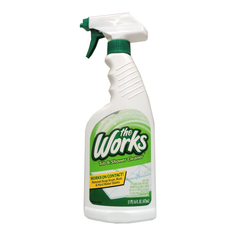 Amazon.com: The Works Tub U0026 Shower Cleaner 16 Fl Oz Trigger Spray: Health U0026  Personal Care