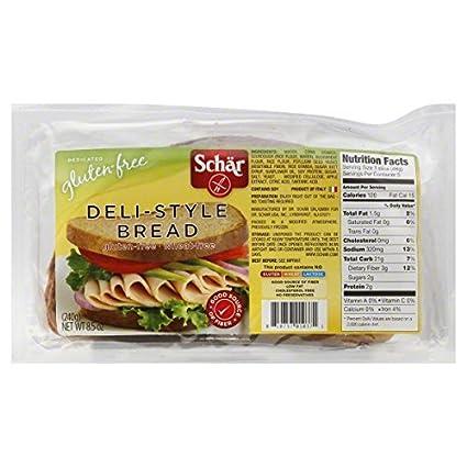Schar Gluten Free Deli Style - Pan de cocina de 2.7 lbs por ...