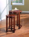 Coaster Traditional Warm Amber 2-Piece Round Nesting Table Set Review