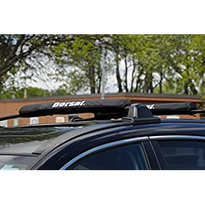 Dorsal Aero Rack Pads for Car Surfboard Kayak SUP Snowboard Wide 28 Inch Long [Pair]
