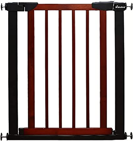 Puertas de bebé Puertas metálicas para bebés para Puertas de Entrada, compuerta para Perros con presión y Puerta de Madera, 65-79cm de Ancho, marrón (Color : Cherry Red, Tamaño : 65-72CM): Amazon.es: