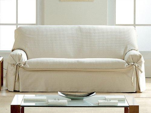 Eysa - Funda de sofá con lazos paola, medidas 3 plazas