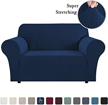 Stretch Sofa Slipcover 1 Piece Sofa Covers for 2 Cushion Couch Sofa  Slipcover Skid Resistant Sofa Cover for Loveseat Lounge Cover Indoor for  Leather ...