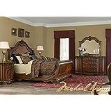 Amazon.com: Aico Amini Cortina Queen Sleigh 5 Piece Bedroom Set Bed ...