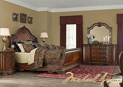 Amazon.com: Bella Veneto 7 Pc. King Bedroom Furniture Set By ...