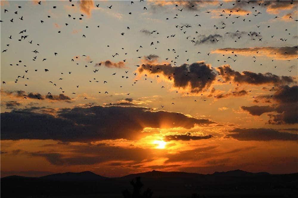 Rompecabezas 1000 piezas de rompecabezas de madera Regalo de juguete para adultos para niños Juego de bricolaje bandada de pájaros migración noche paisaje natural rompecabezas
