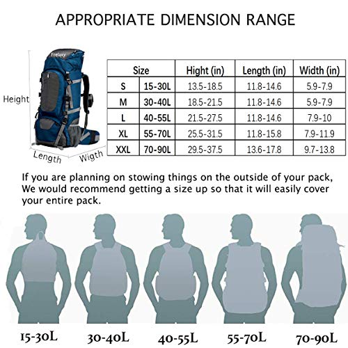 Frelaxy Backpack Rain Cover 100% Waterproof Backpack Cover, Upgraded Anti-Slip Cross Buckle Strap & Rainproof Storage Pouch & Silver Coated, for Hiking (Black, S (for 15L-25L Backpack)) by Frelaxy (Image #6)