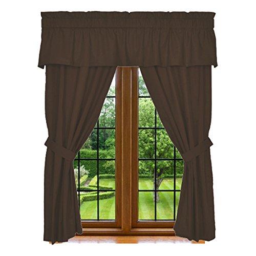 Window Curtain Chocolate Microfiber Washable