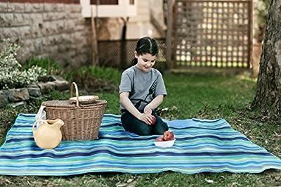 "Beach Mat, Picnic Mat, Camping Mat, All Purpose Mat - Use the Waterproof Mat, Large Mat is 57""x80""."