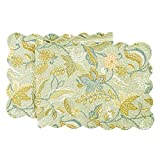 C&F Home Quilted 14'' x 51'' Reversible Table Runner, Henley Spa