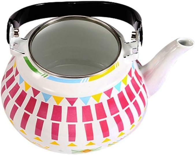crema por Guilty Gadgets Home Inal/ámbrico 2,5 L Acero Inoxidable Hervidor Silbador ligero con boquilla tradicional//retro para encimera de cocina o estufa