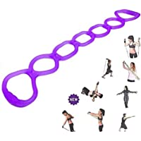 7 Ring Stretch Exercise Band-Miracle Miles Band, Resistance Bands,Yoga Stretching, Arm, Shoulders Foot, Leg Butt Fitness…