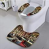 Jiahonghome Toilet seat Cushion Moscow Russia October Eastern Interior of The Uzbek Restaurant Machine-Washable
