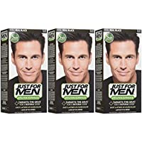 Just For Men Shampoo-In Hair Color - Real Black - 3 pk