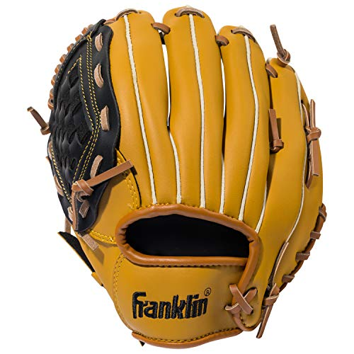 Franklin Sports Baseball Glove - Left and Right Handed Baseball and Softball Fielding Glove - Synthetic Leather Field Master Baseball Glove - 10.5 Inch Left Hand -