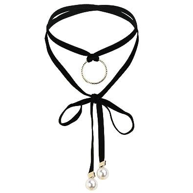 KnSam Gargntilla Acero Inoxidable Mujer, Choker Necklace Collar ...