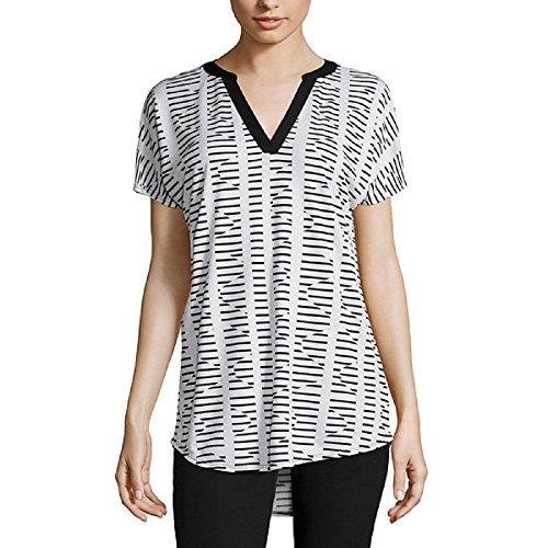 iDWZA Valentines Day Women Casual Printed Lace Patchwork Flare Sleeve T-Shirt Irregular Hem Blouse