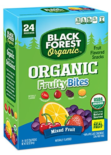 Black Forest Organic Fruity Bites, Strawberry/Cherry/Grape/Orange, 0.8 Ounce Bags, 24 (Black Forest Fruit Snacks Ingredients)