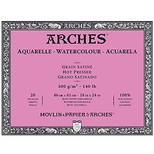 Arches Watercolor Block, Hot Press 18''X24'', by Arches