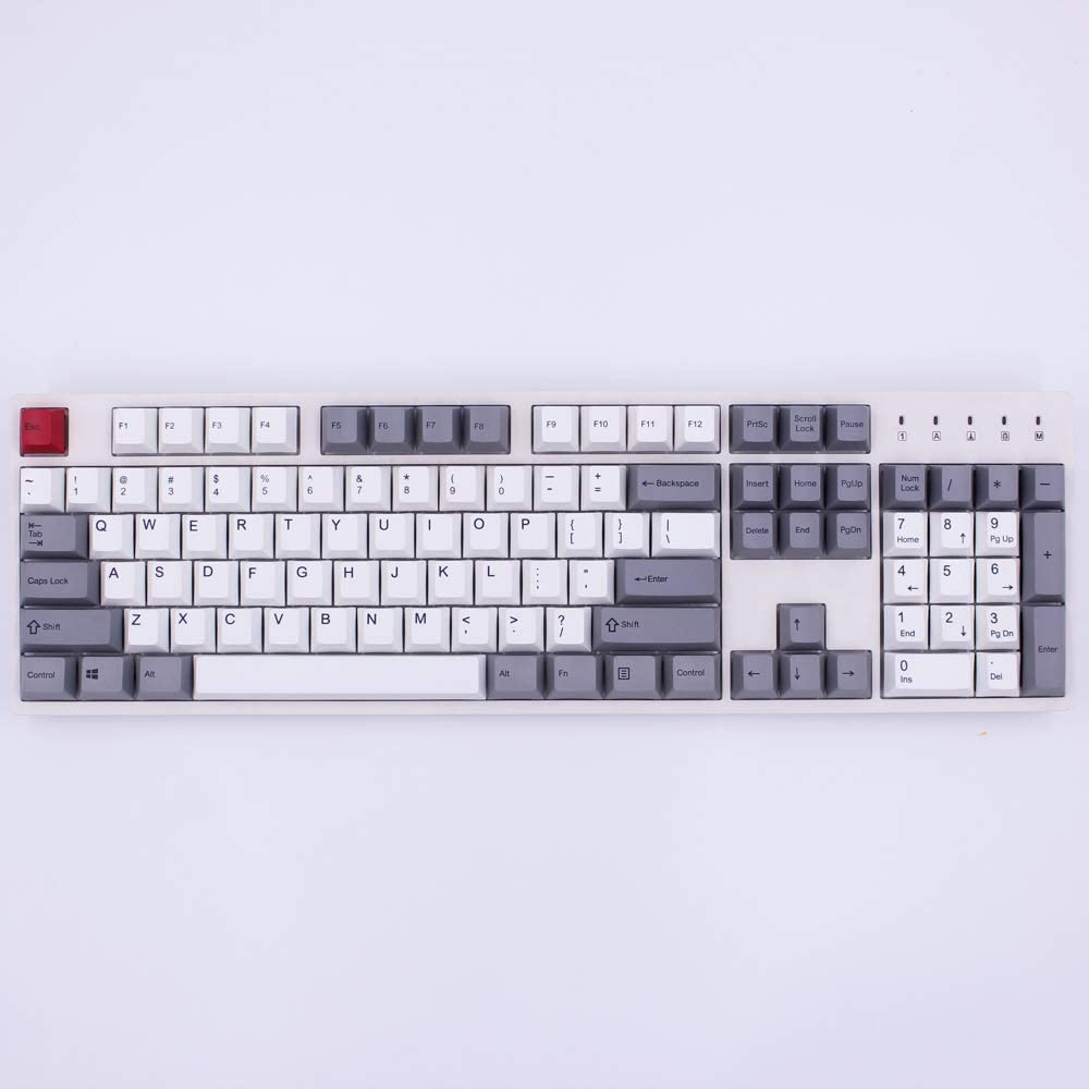 Keyboard keycaps Profile English Version Dye-Sublimation 87//112 Keys Thick PBT Keycaps MX Switch Mechanical Keyboard Keycap Axis Body : 87 Keys, Color : Gold